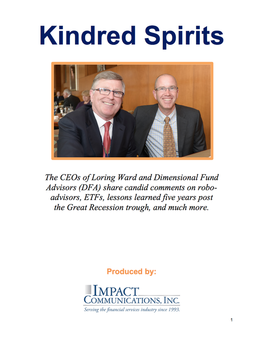 Kinred Spirits - Loring Ward and Dimensional funds_Booth_Potts